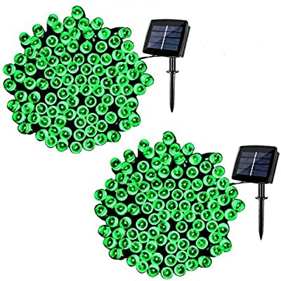 woohaha Solar String Lights Outdoor Waterproof, 72ft 200LED Updated Version 6hrs Timer Function with USB Cable Solar Powered String Lights for Patio Garden Party Pathway