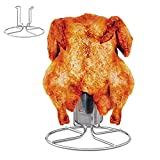 Amigro Beer Can Chicken Roaster Rack, Stainless Steel Beercan Chicken Holder, Vertical Chicken Roaster Stand, Barbecue Cooking Accessories for Grill Smoker and Oven, Dishwasher Safe