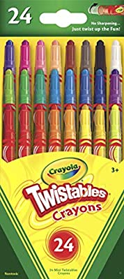 Crayola Mini Twistables Crayons, 24 Classic Colors Non-Toxic Art Tools for Kids & Toddlers 3 & Up, Great For Kids Classrooms Or Preschools, Self-Sharpening No-Mess Twist-Up Crayons