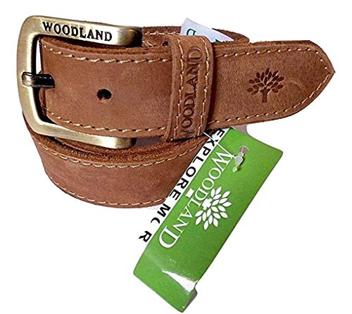 woodland Men's Leather Belt (34)