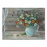 HJKLP Pintura de Lienzo de Estilo Moderno de Little Daisy Flowers Cuadro de época con un Exquisito Cartel de jarrón Habitaciones para el hogar Galería Decoración de Pared 50x70cm Sin Marco
