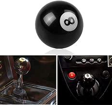 ZysQkb Universal Shift knob Black 8 Ball Acrylic Racing Auto Gear Shift Knob Manual Short Throw Gear Shifter fit M81.25, M101.25, M101.5, M121.25 (3 Adapters)