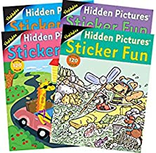 Highlights Sticker Fun Book - 4 Book Set Books for Ages 3 to 7