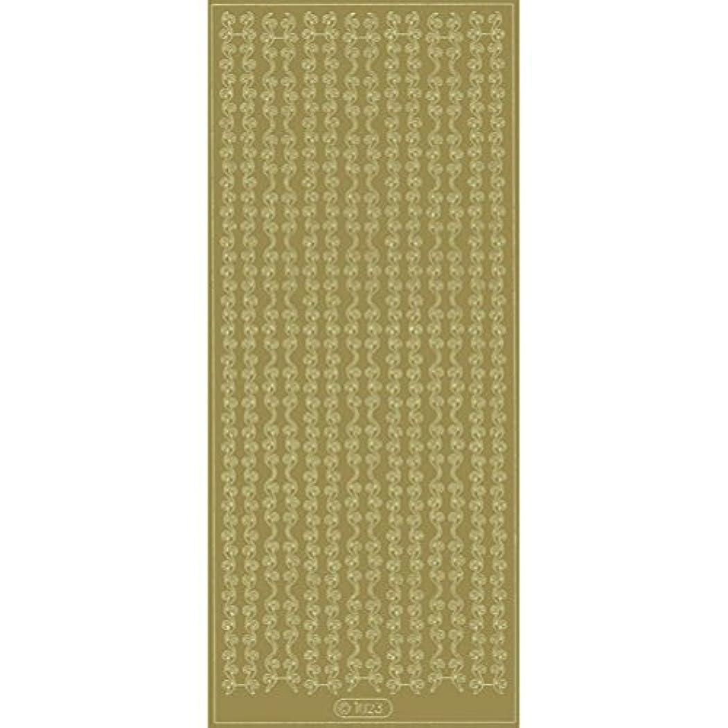 太いニックネーム平行エレガントカットシールL1023ゴールド