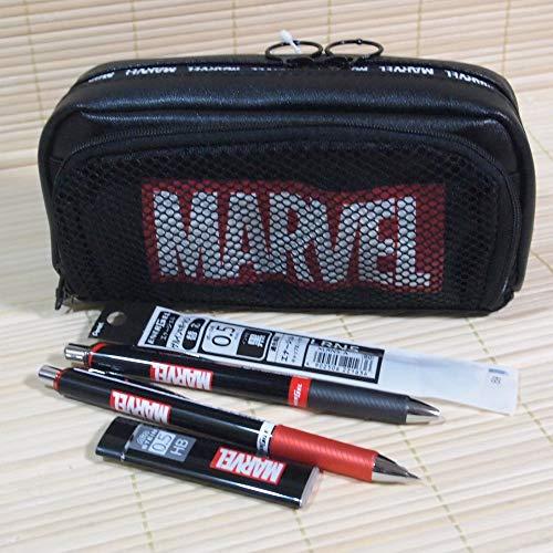 マーベル文具セット(MARVEL)メッシュペンケース&ボールペン&シャープペン&替え芯の5点セット 51246s-5/筆箱/エナージェル