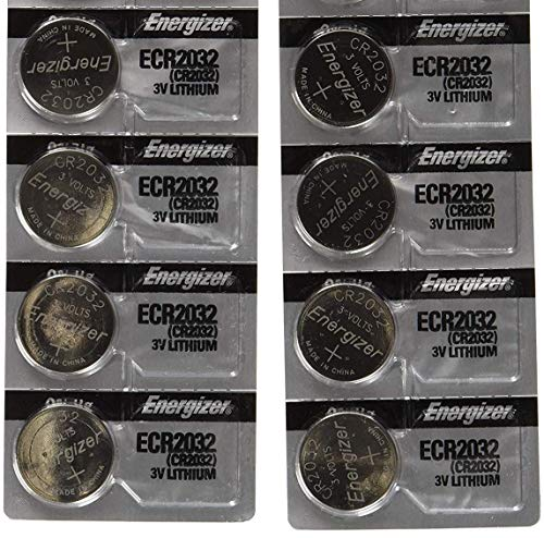 Pack of 8 -- Energizer Cr2032 3v Lithium Coin Cell Battery Dl2032 Ecr2032
