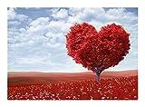 Puzzle Rojo tentación de Rompecabezas de Madera 300/500/1000 Piezas del Amor del árbol for Adultos y niños Cada Pieza es única, Piezas encajan Perfectamente (Size : 1000pcs)