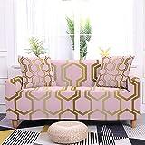 WXQY Funda de sofá elástica con diseño de Plumas Rosa Funda de sofá para niña Bonita Funda de sofá decoración del hogar Funda de sofá Antideslizante A9 2 plazas