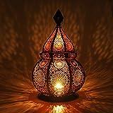 Gadgy  Lanterna portacandela (36 cm) l sostiene Candele e Luci elettricas l Deco Interni e Esterni l Resistente al Vento l Stile Marocchino-Arabo/Indiano-Orientale l Fatto a Mano