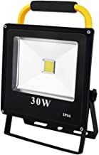 Portable LED Work Light 30W 2400LM, COB Rechargeable Working Lights 2 Brightness Modes Workshop Lamps, IP65 Waterproof Out...