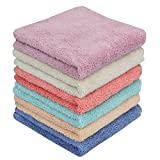 Microfiber Cleaning Cloth Dust Rag Dust Cloths Cleaning rag Multi-functional Washable Reusable Household cleaning cloths for House Furniture table Kitchen Dish window Glasses (6 colors)12X12in