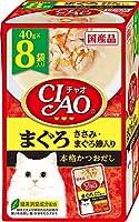 (まとめ買い)いなばペットフード CIAO パウチ まぐろ ささみ・まぐろ節入り 40g×8袋 猫用フード 【×6】
