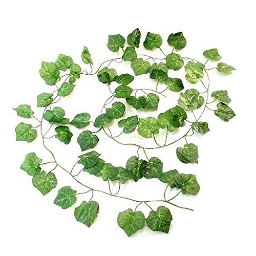 Artificial Ivy Vine 2M Fake Hanging Vine Artificial Greenery Leaves for Christmas Wedding Party Garden Office Wall Decoration