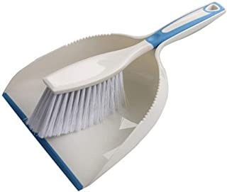 ほうき ちりとり セット 卓上 おしゃれ ミニ デスク キッチン 掃除用品 箒 プラスチック 室内 ペット用にも 掃除 柔軟 しっかり 食卓 勉強机 年末掃除 (ブルー)