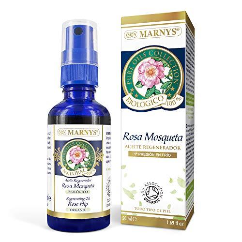 MARNYS Aceite Regenerador Rosa Mosqueta Biológico 100% Vegetal Spray 50ml