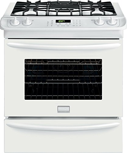 """Frigidaire FGGS3065PWGallery 30"""" White Gas Slide-In Sealed Burner Range - Convection"""