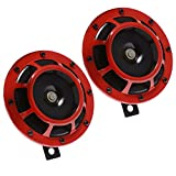 Anxingo Electric Car Horn 12V Universal Vehicle Horn High Tone and Low Tone...