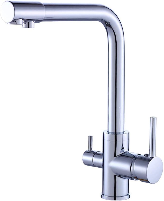 Yany Hahn-Küchen-Zughahn-drehbarer heier und kalter Wasser-Mischbatterie-Chrom-Oberflchen-einzelner Anschluss