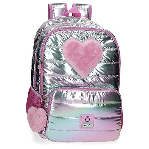 Enso Fancy Mochila Doble Compartimento Adaptable a Carro Rosa 32x44x17 cms Poliéster 23.94L