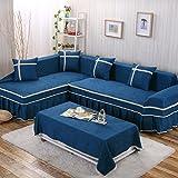 YEARLY Telar Funda de sofá, Europeo Funda para sofá Sala de Estar Encaje Vintage Funda para sofá con el cordón Funda Cubre sofá Four...