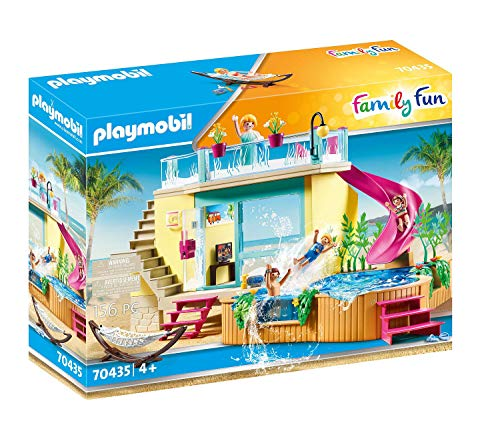 PLAYMOBIL Family Fun 70435 Bungalow mit Pool, Ab 4 Jahren