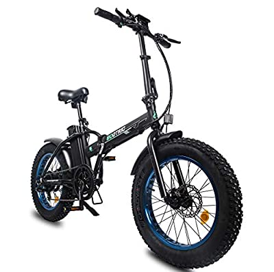 "ECOTRIC Powerful Bike Foldable Fat Tire EBike 13Ah 48V Li-ion Battery 500W Motor 20"" x4.0 inch Fat Tire Aluminum Frame Electric Mountain Beach Snow Electric Bicycle Ebike"