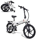 SAMEBIKE 20 Zoll 350 W 48 V 10 Ah Lithiumbatterie Faltbares Elektrofahrrad E-Bike