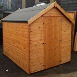 Pinelap 6x4 Wooden Apex Garden Shed 12mm Fully T&G No Windows - Dip Treated