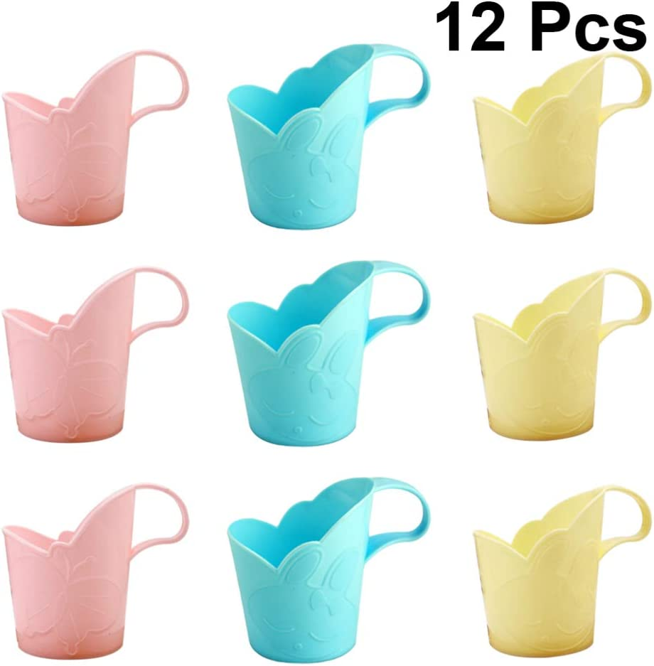 IMIKEYA 12pcs Disposable Paper Spring new work one after another Anti-Scald Cup Plastic Challenge the lowest price of Japan ☆ Dispenser