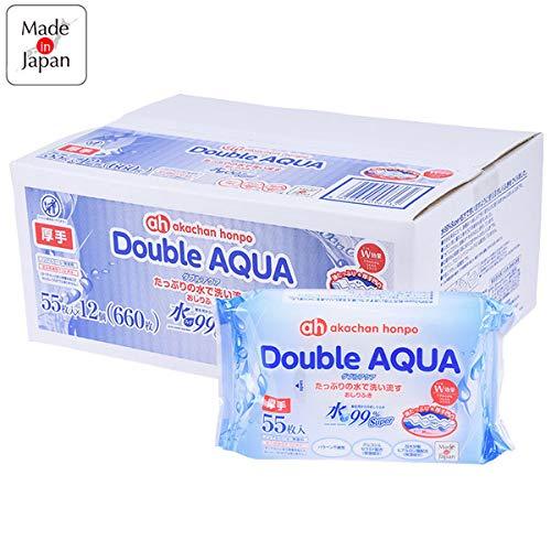 アカチャンホンポ赤ちゃん本舗水99%Superダブルアクア55枚×12個
