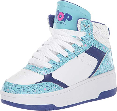 Heelys Girl's Bang (Little Kid/Big Kid) White/Light Blue 5 Big Kid