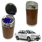 Oshotto High Temperature Portable Wooden Design Car Ashtray for Toyota Etios