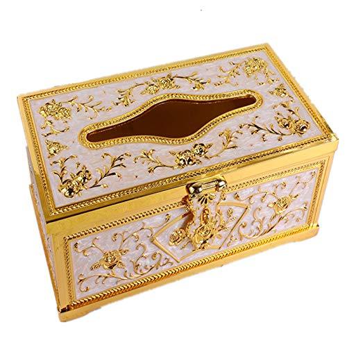 AnnoTissue caja de metal de alto grado extraíble hogar tejido caja estilo europeo creativo salón inodoro hogar tejido caja