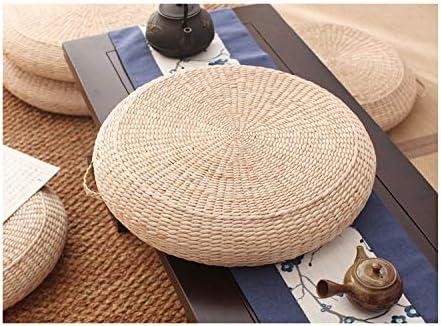 Straw Flat Seat Cushion Handmade Pouf Ottoman store Footst favorite Mat Floor