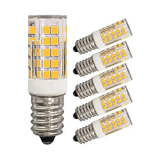 E14, LED-lamp, dimbare 4W, vervangt 40W, 35W, warm wit, 220V, 230V, 3000K, 430 lumen, slaapkamer, wandlamp, woonkamer, kroonluchter, kleine lampen, pak van 5