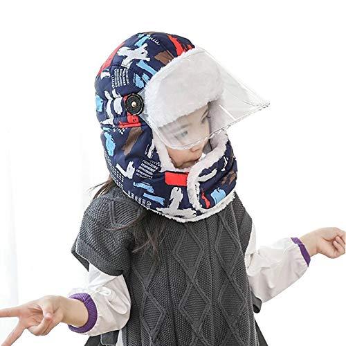 FOLDIN Chapeaux Casquettes Hover Tun Thunder Hotte avec des Lunettes, Casquette à Coupe-Vent et Respirant à l'oreillette Mignon et Respirante (Color : Children C)