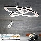 ZMH Moderne LED Pendelleuchte esstisch 73 W Led 3-Ring led