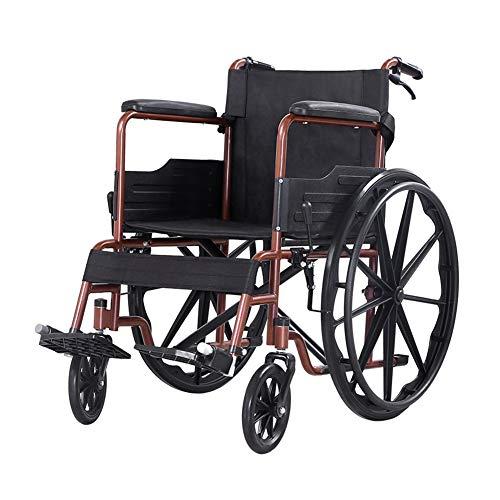 LLPDD Rolstoel Vouwfiets Anti-Skid Handrem Veiligheidsgordel Opbergtas voor gehandicapten Ouderen Rolstoel