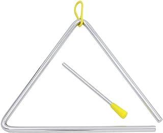 Dilwe Music Triángulo, Niños Music Enlightenment Instrumento de Percusión Musical Steel Triangle con Striker