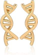 Eiffy DNA Double DAN Helix Molecule Stud Earrings for Girls Women Biology Science Themed Jewelry