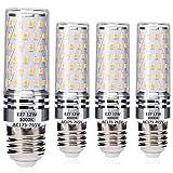E27 LED Maíz Bombillas 12W Equivalente a 100W Halógeno Bulbos, blanco cálido 3000K, Edison Tornillo LED Ligero Bombillas, sin parpadeo, sin atenuación, 1400LM, CA 230V, paquete de 4