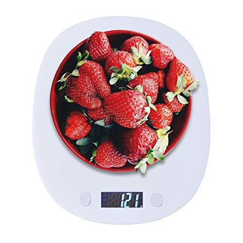 Digitale Küchenwaage, OUTUL Professional Hochpräzise elektronische Küchenwaage mit LCD-Display, 10 kg maximales Gewicht