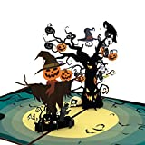 """Liif Pumpkin Halloween 3D Greeting Pop Up Card, Happy Halloween Card For Kids, Boy, Girl, Trick Or Treat, Funny, Scary 