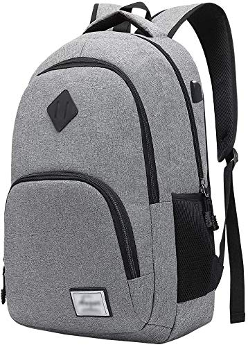 ZHLFDC Travel Laptop Backpack, Professional Business Backpack Bag With USB Charging Port, Ultra-Thin Lightweight Laptop Bag, Ladies Men's Waterproof School Backpack (Size : XL)