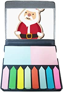 Christmas Santa Claus Cartoon Festival Self Stick Note Color Page Marker Box