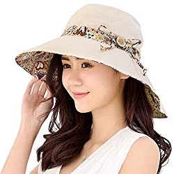 An elegant sun protection hat with a splash of color around the head band  and also under the brim da2163f9237