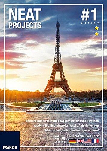 FRANZIS NEAT projects|#1|3 Geräte|Für PC und Mac|Bildbearbeitungsprogramm für Windows 10/8.1/8/7 & Mac OS X ab 10.7|Disc|Disc