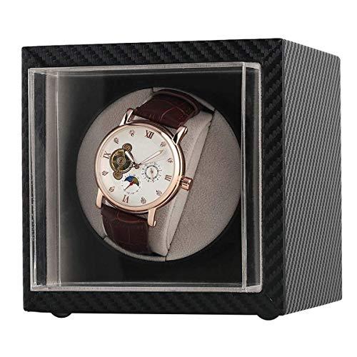ZCYXQR Enrollador de Reloj automático, Soporte de agitador de Motor doméstico, Cajas de bobinado de Almacenamiento para Relojes de Pulsera mecánicos de Cuerda automática