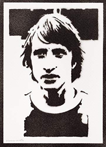 Poster Johan Cruyff Grafiti Hecho a Mano - Handmade Street Art - Artwork
