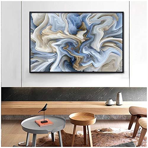 Pintura de lienzo con textura de mármol abstracto moderno, imágenes artísticas de pared únicas, póster e impresiones para el interior de la sala de estar, decoración del hogar, 60x80cm (24x32in)